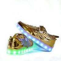 Usay like Envio 24 Horas Zapatillas LED con 7 Colores Luces Carga USB Dorado Ninos Niñas Unisex Unisex Talla 25 hasta 35 Envio Desde España