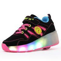 zapatillas con luces y ruedas para niños