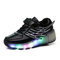 Tenis de ruedas y luces led