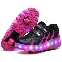 Tenis de ruedas y con luz led