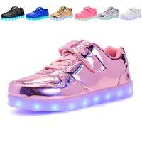 Voovix Kids Led Zapatos Zapatos Ligeros Zapatillas Intermitentes para niños y niñas