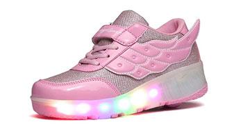 zapatillas con ruedas y luces de niña