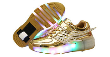 tenis con ruedas y luces led